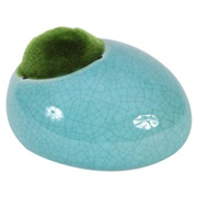 "Fluval Ceramic Ornament with Moss - Blue - Small - 10 x 8.4 x 5.9 cm (3.9"" x 3.3"" x 2.3"")"