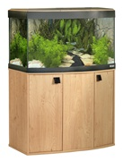 Vicenza 180 Natural Oak Bow Front Aquarium