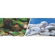 "Marina Double Sided Aquarium Background, Aquatic Garden/Bright Stone, 30.5 cm X 7.6 m (12"" X25 ft)"
