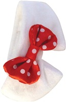 Dogit Christmas 2010 Small Dog Clothing Collection - Holiday Bowtie, Red/White, Small (26.7cm / 10.5in )