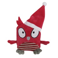 Dogit Plush Owl - Red - 12 cm (4.7in)