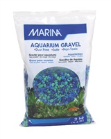 Marina Decorative Coloured Aquarium Gravel, Tri-Colour Blue, 2 kg (4.4 lb)