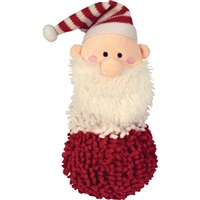 "Dogit Christmas 2011 Small Dog Clothing & Toy Collection,  Santa shaggy plush snowman toy with squeaker  (20 cm / 8"")"