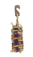 Living World Nature's Treasure Bird Toy Bamboo Cubic Ladder, For small & medium hookbills