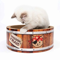 Catit Play Pirates Barrel Scratcher with Catnip - Large - 42 cm (16.5 in)