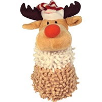 "Dogit Christmas 2011 Small Dog Clothing & Toy Collection,  Reindeer shaggy plush snowman toy with squeaker  (20 cm / 8"")"