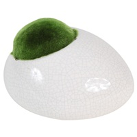 "Fluval Ceramic Ornament with Moss - White - Medium - 13 x 11 x 8.1 cm (5.1"" x 4.3"" x 3.2"")"