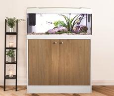 Marina Premium 84 Cabinet - White/Oak