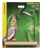 "Living World Bird Swing with Wooden PerchFor Cockatiels14 x 17.5 cm (5.5"" x 7"")"