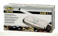 24W GLO T5HO Elec Lighting System Double