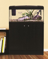Marina Premium 84 Cabinet - Black/Black Ash