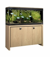 Fluval Roma 240 Cabinet Oak with Black insert