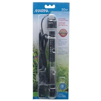 "Marina Submersible Pre-Set Aquarium Heater, 50W, 22 cm (8.5"")"