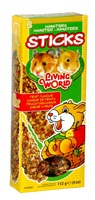 Living World Hamster Sticks, Fruit Flavour, 112g (4 oz), 2-pack