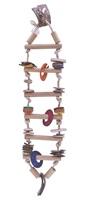 Living World Nature's Treasure Bird Toy Bamboo Ladder, For medium & large hookbills