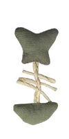 Catit Cat Eco Terra Toys with Catnip, Green Fish (Linen & Raffia)