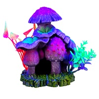 Marina iGlo Ornament - Mushroom House with Plants - Large - 13 cm (5.25 in)