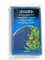 Marina Blue Decorative Aquarium Gravel, 2kg (4.4 lb)