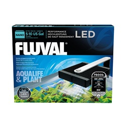 Fluval Nano Aqualife & Plant  Performance LED Lamp, 8W, 14 cm x 15.5 cm (5.5 in x 6 in)