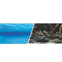 "Marina Double Sided Aquarium Background, Sea Scrape/Natural Mystic,  61 cm X 7.6 m (24"" X25 ft)"