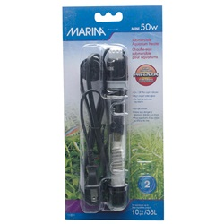 "Marina Submersible Aquarium Heater, Mini 50W, 15 cm (6"")"
