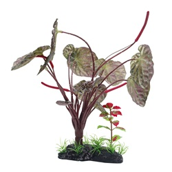 "Fluval Large Red Lotus- 25cm (10"") with Base"