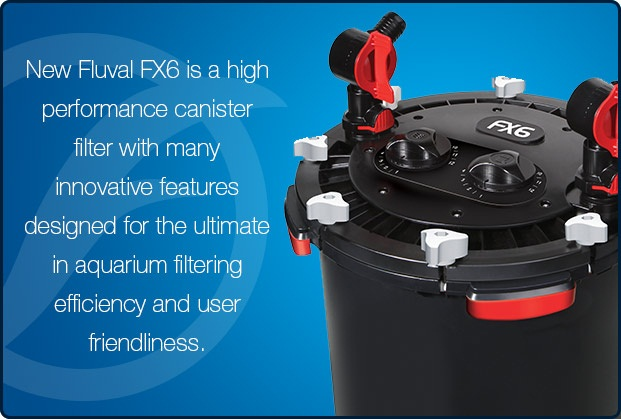 New Fluval FX6 is a high performance canister filter with many innovative features designed for the ultimate in aquarium filtering efficiency and user friendliness.