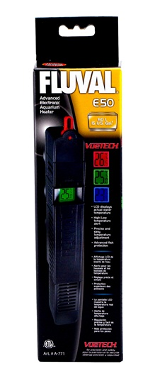 A771 Fluval Quot E Quot 50 Watt Advanced Electronic Heater 60 L