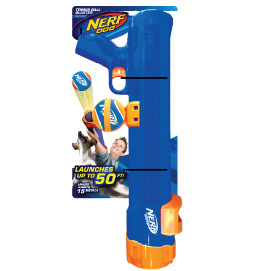 Nerf Tennis ball blaster in packaging